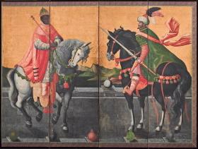 泰西王侯騎馬図屏風の彩色材料調査