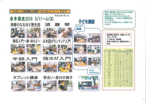 神戸市:春季講座・秋季講座