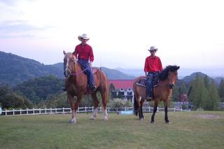 黄昏乗馬体験